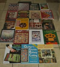 Lot 19 QUILT QUILTERS QUILTING Books Machine Rotary Watercolor Birds Murrah Bags