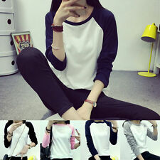 Cotton Blend Long Sleeve Unbranded Regular T-Shirts for Women