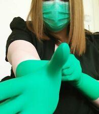 Green Surgical Gloves Fetish Medical Latex