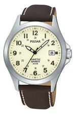 Pulsar Gents Kinetic Leather Strap Watch - PNP PAR167X1