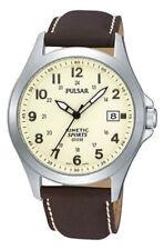 Pulsar Gents Kinetic Leather Strap Watch - PNP PAR167X1