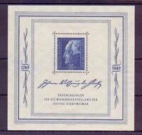 SBZ Allgemeine Ausgabe 1949 - Goethe Block 6 ungebraucht - Michel 150,00 € (741)