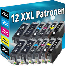 12 PATRONEN SET CHIP für CANON IP3300 IP3500 IP4200 IP5200R IP4300 IP4500 MP970