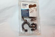 Maytex Double Glide Oil Rubbed Bronze Decorative Hooks Set of 12