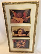 Michelangelo CHERUBS set of 3 Angels Prints Pictures Framed & Matted