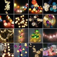 10/20 LED Battery Operated String Fairy Lights Lamp Xmas Wedding Party Decor