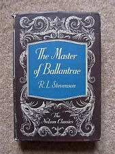 R.L.Stevenson - The Master of Ballantree, Hardback, Nelson Classics