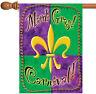 Toland Mardi Gras Beads 28 x 40 Colorful Carnival Fleur De-lis House Flag