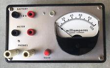 Simpson Electric Vintage Analog Meter Dc Milliamperes 0 100