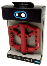 Crank Brothers Stamp 1 Mountain Bike Platform Pedals, Red, Large