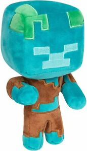 "Jinx Minecraft Plush Happy Explorer Drowned 7"" Sof Doll New Kids Gift"