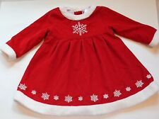 HANNA ANDERSSON Red Corduroy Christmas Dress Size 90 3T