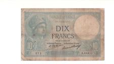 Billet 10 francs Minerve 1932 TB+/TTB-