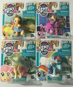 My Little Pony Set Of 4 Applejack, Rainbow dash, Fluttershy 2 Inch Figures new