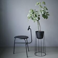 NEW Menu Black Wire Plant Pot Steel Stand Set 60x23 Nordic Modern Home Outdoor