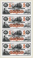 Baton Rouge, LA- City of Baton Rouge 1866 Uncut Special Sheet Proof COPY