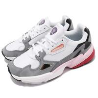 adidas Originals Falcon W White Grey Pink Black Women Running Casual Shoe CG6214