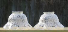 """OLD 2  ANTIQUE ETCHED GLASS SHADE 2-1/8"""" FITTER Lamp"""