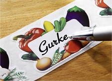100 Einmachetiketten Gefrier Etiketten Haushaltsetiketten Aufkleber Gemüsebild