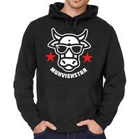 MUHVIEHSTAR Moviestar Spaß Lustig Kuh Cow Fun Kapuzenpullover Hoodie Sweatshirt