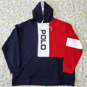 Polo Ralph Lauren Mens New Hoodie Color Block Limited Edition Big &Tall 4XB