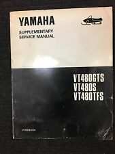 YAMAHA VT480GTS VT480S VT480TFS SUPPLEMENTARY SERVICE MANUAL LIT-12618-01-33