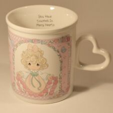 1997 Precious Moments You Have Touched So Many Hearts Coffee Mug Heart Handle