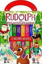 Rudolph the Red- Nosed Reindeer : My First Library (2010, Board Book)