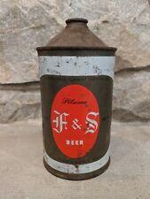 F&S Pilsner Beer Quart Cone Top 209-08 Fuhrmann & Schmidt Brewing Itrp