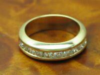14kt 585 Gelbgold Ring mit 1,00ct Brillant Besatz / Diamant / 6,0g / Rg 53