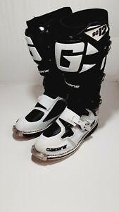 Gaerne SG12 White/Black size 10 mx sx offroad motocross