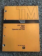 John Deere 482C Forklift Operation & Test Technical Manual TM1464