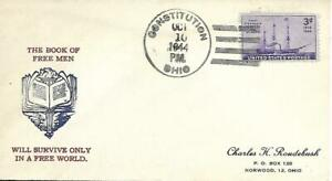 WW Two Patriotic Cover The book of Free Men PM 10 Oct 1944 PM Constitution OH