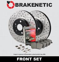 FRONT BRAKENETIC PREMIUM Drill Slot Brake Rotors + POSI QUIET Pads BPK47977