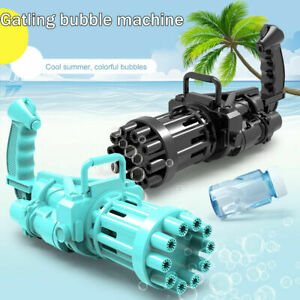 Gatling Bubble Gun Toys Summer Cooling Fun Automatic Bubble Machine Kid Gift AU