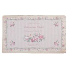 Clayre&Eef Paillasson tapis de porte shabby chic Vintage Roses maison campagne