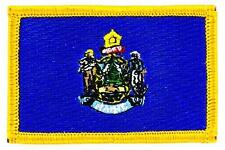 Patch écusson brodé Drapeau MAINE  Thermocollant USA AMERICAIN ETATS UNIS