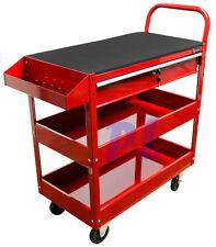 36'' Metal Steel Roller Tool Box Cart 1 Drawer Tool Rolling Part Bin Storage-RED
