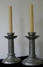 Antique Handmade Swedish Metal Candleholders