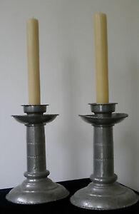 Antique Handmade Scandinavian Metal Candleholders