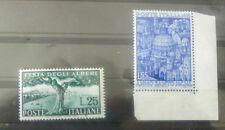 ITALIA REPUBBLICA1950 ANNO SANTO  55 LIRE MLH- FESTA DEGLI ALBERI  MNH 25 LIRE