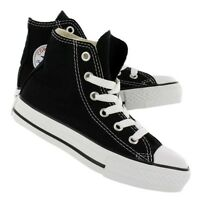New! Unisex Youth Chuck Taylor Converse All Star Hi-Top - Black E6