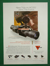 4/2007 PUB TRIJICON ACOG COMBAT OPTICAL GUNSIGHTS US SPECIAL FORCES ORIGINAL AD