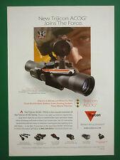4/2007 PUB TRIJICON ACOG COMBAT OPTICAL GUNSIGHTS US SPECIAL FORCES ORIGINAL AD