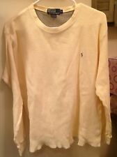 POLO RALPH LAUREN THERMAL CREAM SHIRT SIZE:L