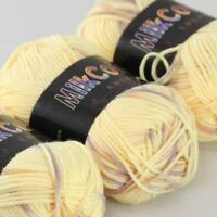 AIP Soft Baby Cotton Yarn New Hand dyed Wool Socks Scarf New Knit 3Skeinsx50g 08