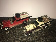 VINTAGE ERTL CO. 1926 SEAGRAVE FIRE TRUCK HERSHEYS AND DUBUQUE COIN BANKS