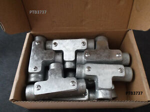 BOX of 10 INSPECTION TEE for 20mm Galvanised Malleable Iron Conduit DETA brand
