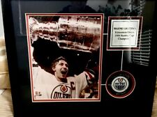 Wayne Gretsky  Signed Hockey Puck 1984 Stanley Cup Championship