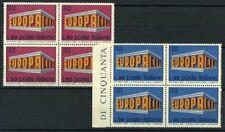 Italia Repubblica 1969 Sass. 1109-1110 Nuovo ** 100% Quartina Europa Unita
